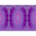 India Ornaments Mandala Pillar Blue Violet Circle Bottom 3D Greeting Card (7x5) Front