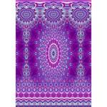 India Ornaments Mandala Pillar Blue Violet HOPE 3D Greeting Card (7x5) Inside