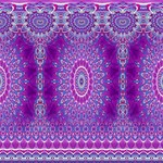 India Ornaments Mandala Pillar Blue Violet PARTY 3D Greeting Card (8x4) Inside
