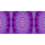 India Ornaments Mandala Pillar Blue Violet ENGAGED 3D Greeting Card (8x4) Front