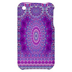 India Ornaments Mandala Pillar Blue Violet Apple iPhone 3G/3GS Hardshell Case