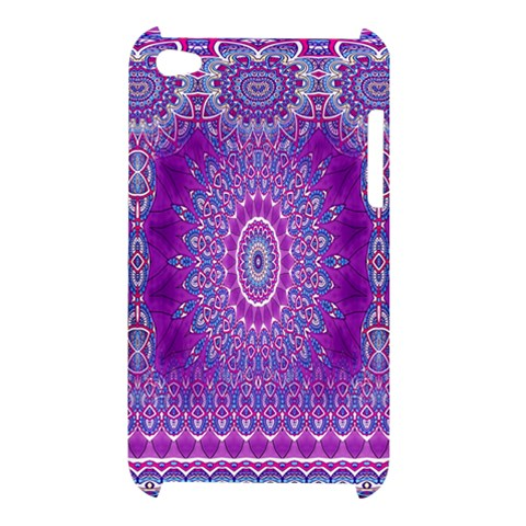 India Ornaments Mandala Pillar Blue Violet Apple iPod Touch 4