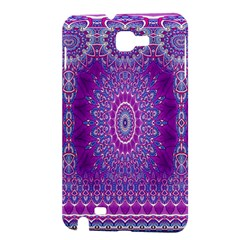 India Ornaments Mandala Pillar Blue Violet Samsung Galaxy Note 1 Hardshell Case