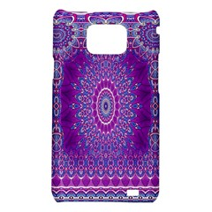 India Ornaments Mandala Pillar Blue Violet Samsung Galaxy S2 i9100 Hardshell Case
