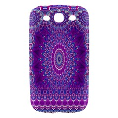 India Ornaments Mandala Pillar Blue Violet Samsung Galaxy S III Hardshell Case