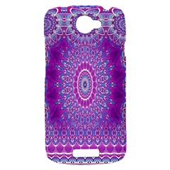 India Ornaments Mandala Pillar Blue Violet HTC One S Hardshell Case
