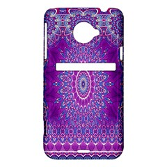 India Ornaments Mandala Pillar Blue Violet HTC Evo 4G LTE Hardshell Case