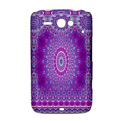India Ornaments Mandala Pillar Blue Violet HTC ChaCha / HTC Status Hardshell Case