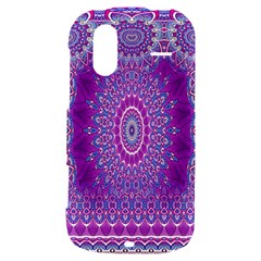 India Ornaments Mandala Pillar Blue Violet HTC Amaze 4G Hardshell Case