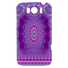 India Ornaments Mandala Pillar Blue Violet HTC Sensation XL Hardshell Case