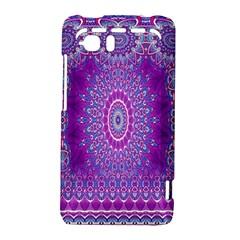 India Ornaments Mandala Pillar Blue Violet HTC Vivid / Raider 4G Hardshell Case