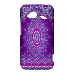 India Ornaments Mandala Pillar Blue Violet HTC Droid Incredible 4G LTE Hardshell Case