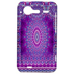 India Ornaments Mandala Pillar Blue Violet HTC Incredible S Hardshell Case