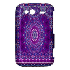 India Ornaments Mandala Pillar Blue Violet HTC Wildfire S A510e Hardshell Case