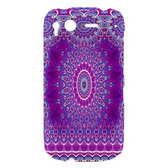 India Ornaments Mandala Pillar Blue Violet HTC Desire S Hardshell Case