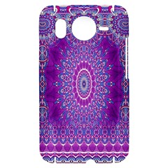 India Ornaments Mandala Pillar Blue Violet HTC Desire HD Hardshell Case