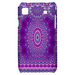 India Ornaments Mandala Pillar Blue Violet Samsung Galaxy S i9000 Hardshell Case