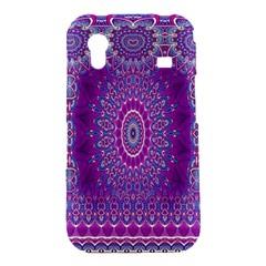 India Ornaments Mandala Pillar Blue Violet Samsung Galaxy Ace S5830 Hardshell Case
