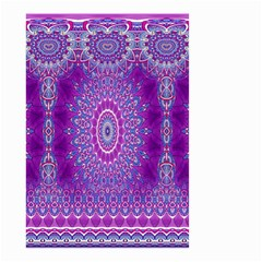 India Ornaments Mandala Pillar Blue Violet Small Garden Flag (Two Sides)