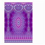 India Ornaments Mandala Pillar Blue Violet Small Garden Flag (Two Sides) Back