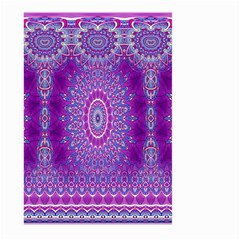 India Ornaments Mandala Pillar Blue Violet Large Garden Flag (Two Sides)