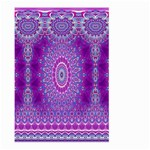 India Ornaments Mandala Pillar Blue Violet Large Garden Flag (Two Sides) Back