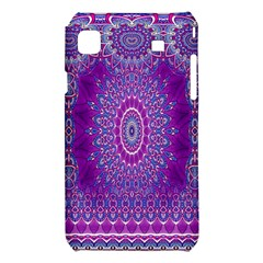 India Ornaments Mandala Pillar Blue Violet Samsung Galaxy S i9008 Hardshell Case