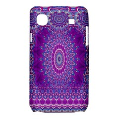 India Ornaments Mandala Pillar Blue Violet Samsung Galaxy SL i9003 Hardshell Case