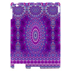 India Ornaments Mandala Pillar Blue Violet Apple iPad 2 Hardshell Case