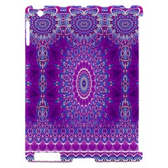 India Ornaments Mandala Pillar Blue Violet Apple iPad 2 Hardshell Case (Compatible with Smart Cover)