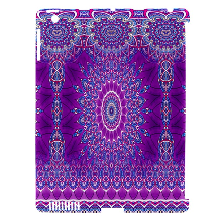 India Ornaments Mandala Pillar Blue Violet Apple iPad 3/4 Hardshell Case (Compatible with Smart Cover)