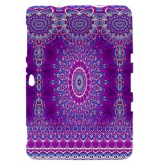 India Ornaments Mandala Pillar Blue Violet Samsung Galaxy Tab 8.9  P7300 Hardshell Case