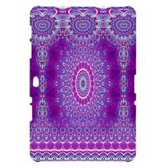 India Ornaments Mandala Pillar Blue Violet Samsung Galaxy Tab 10.1  P7500 Hardshell Case