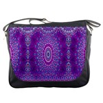 India Ornaments Mandala Pillar Blue Violet Messenger Bags Front
