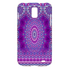 India Ornaments Mandala Pillar Blue Violet Samsung Galaxy S II Skyrocket Hardshell Case