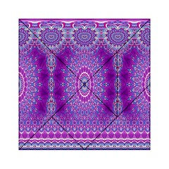 India Ornaments Mandala Pillar Blue Violet Acrylic Tangram Puzzle (6  x 6 )