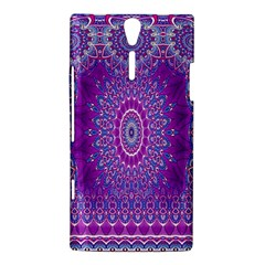 India Ornaments Mandala Pillar Blue Violet Sony Xperia S