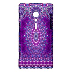 India Ornaments Mandala Pillar Blue Violet Sony Xperia ion