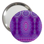 India Ornaments Mandala Pillar Blue Violet 3  Handbag Mirrors Front