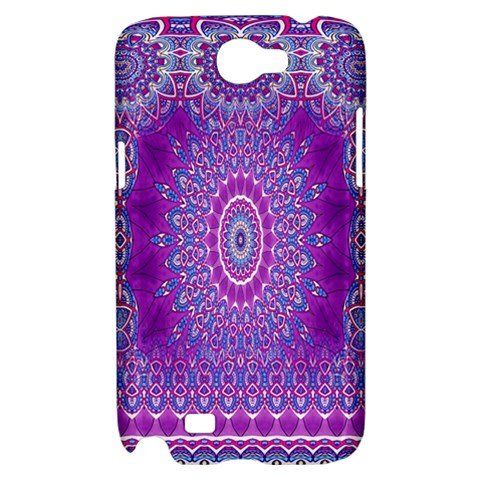 India Ornaments Mandala Pillar Blue Violet Samsung Galaxy Note 2 Hardshell Case
