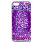India Ornaments Mandala Pillar Blue Violet Apple Seamless iPhone 5 Case (Clear) Front