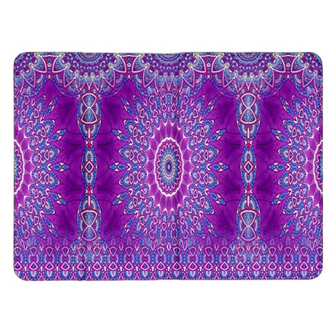 India Ornaments Mandala Pillar Blue Violet Kindle Fire (1st Gen) Flip Case