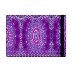 India Ornaments Mandala Pillar Blue Violet Apple iPad Mini Flip Case
