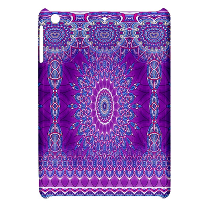 India Ornaments Mandala Pillar Blue Violet Apple iPad Mini Hardshell Case