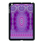 India Ornaments Mandala Pillar Blue Violet Apple iPad Mini Case (Black) Front