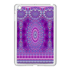 India Ornaments Mandala Pillar Blue Violet Apple iPad Mini Case (White)