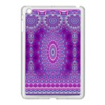 India Ornaments Mandala Pillar Blue Violet Apple iPad Mini Case (White) Front