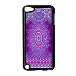India Ornaments Mandala Pillar Blue Violet Apple iPod Touch 5 Case (Black) Front