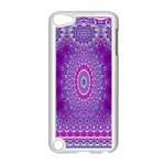 India Ornaments Mandala Pillar Blue Violet Apple iPod Touch 5 Case (White) Front