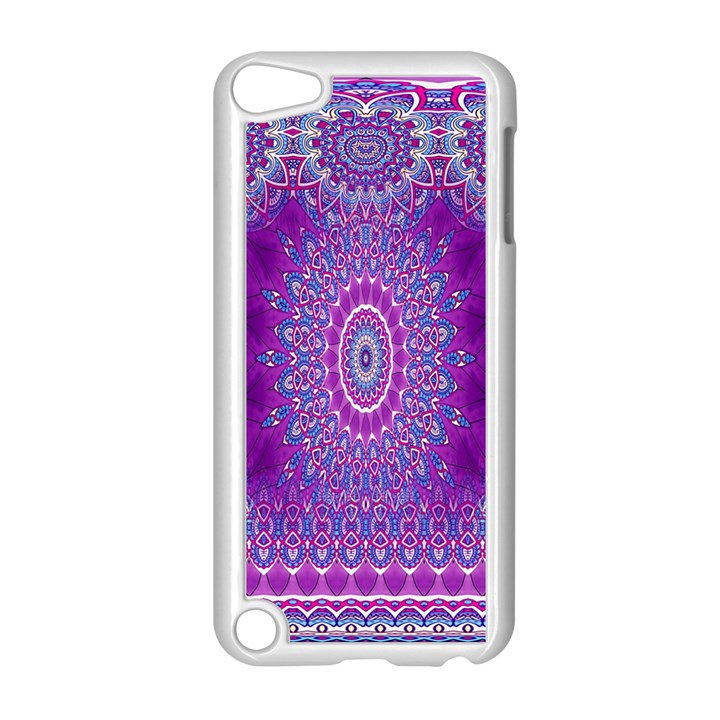 India Ornaments Mandala Pillar Blue Violet Apple iPod Touch 5 Case (White)